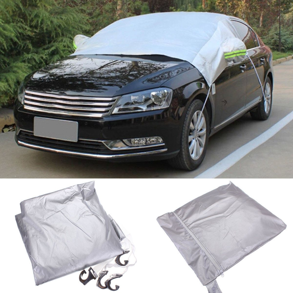 238x169cm Car Windscreen Cover Heat Sun Shade Anti Snow Frost Ice Shield Dust Protector Universal auto car windscreen snow ice frost windshield roof covers protector 610025