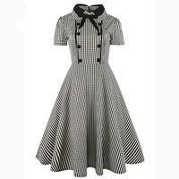 Womens Summer Short Sleeve Pinup Retro Party Swing Dress 2017 Elegant Vintage 1940s 50s Rockabillky Vestidos