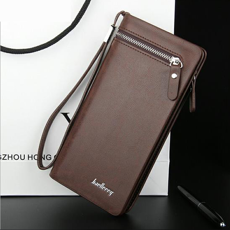 baellerry Long men wallets coin slot Purse Zipper purse men wallets clutch Hasp wallet men Money Bag quality fashion wallet men new oil wax leather men s wallet long retro business cowhide wallet zipper hand bag 2016 high quality purse clutch bag