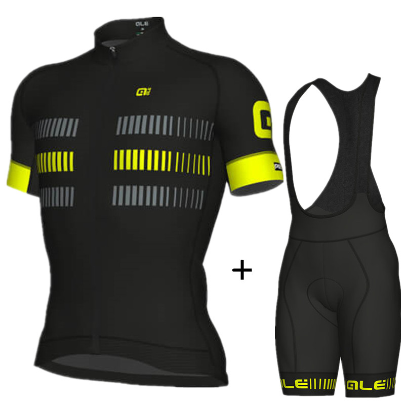 2018 ALE Cycling Clothing Breathable Summer Cycling Jersey Set Quick-Dry MTB Bike Clothing Bicycle Clothes Cycling -7D7E otwzls cycling jersey 2018 set mountain bike clothing quick dry racing mtb bicycle clothes uniform cycling clothing bike kit