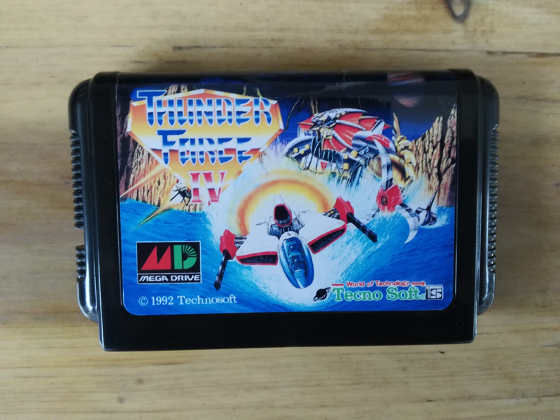 MD Game : Thunder Force IV 4 ( Japan Version!! )