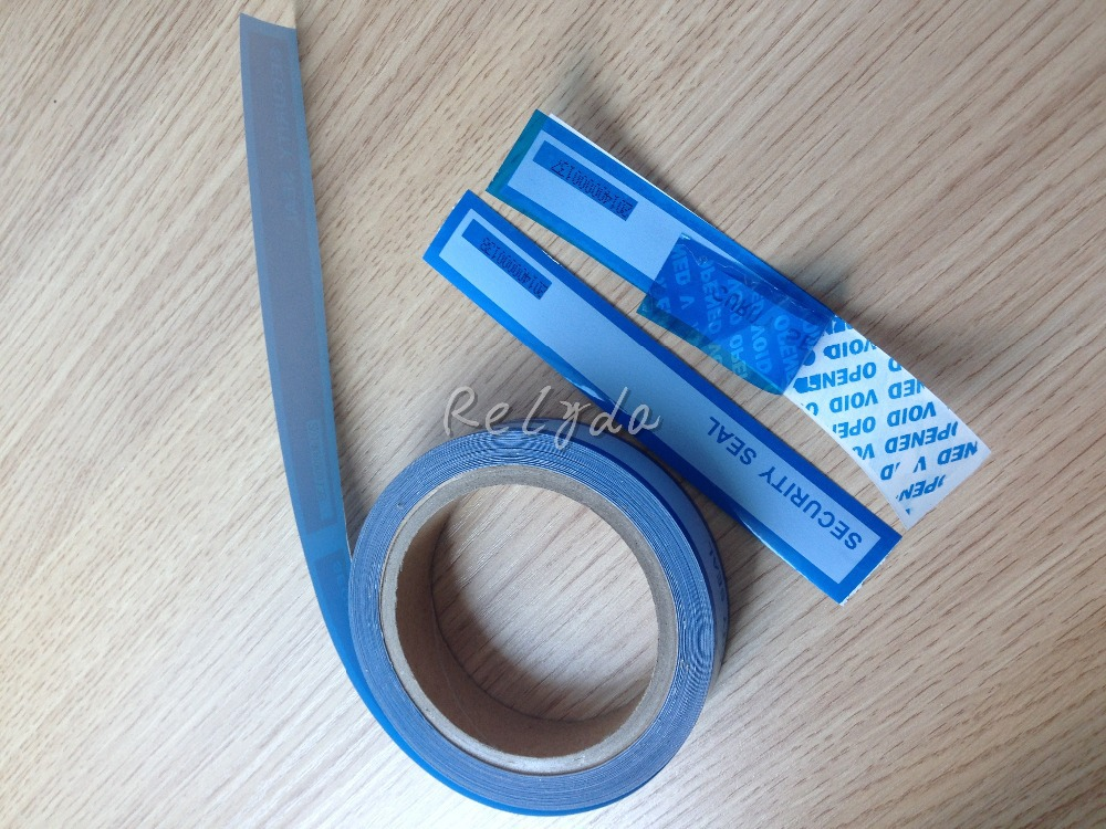 1pcs Free shipping custom tamper evident tapes adhesive security seals anti-counterfeit labels VOID OPEN blue stickers 25mm*30m personalized printing labels custom stickers wedding stickers printed logo transparent clear adhesive round label gift tags h006