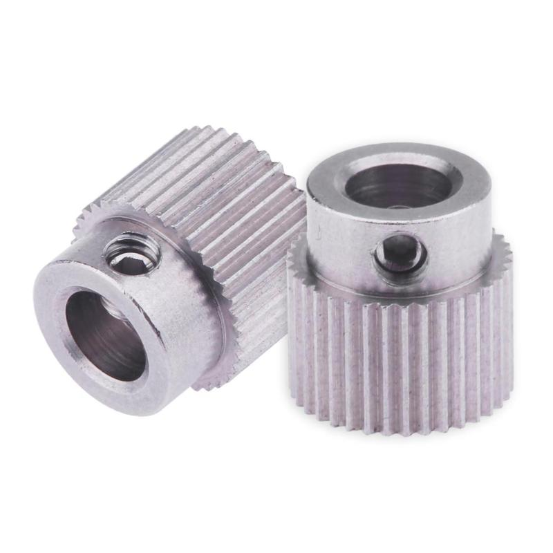 все цены на 2pcs/lot MK8 MK7 High Quality Stainless Steel Reducer Extruder Gear Bore 5mm Caliber for 3D Printer Parts DIY Accessories онлайн