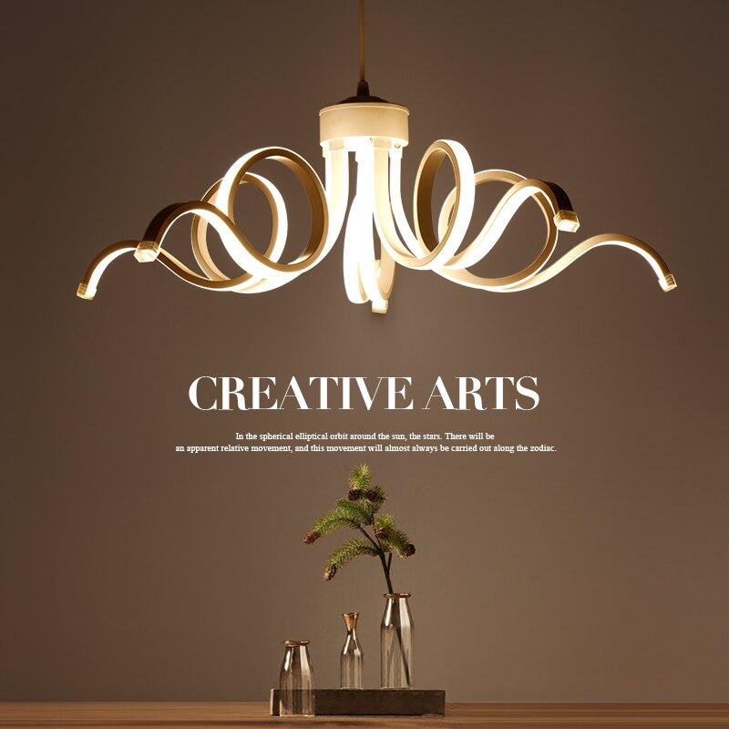 Новинка 2017 года современный дизайн потолка огни для гостиной столовой d65cm акрил алюминиевый корпус Светодиодное освещение потолочный свет...