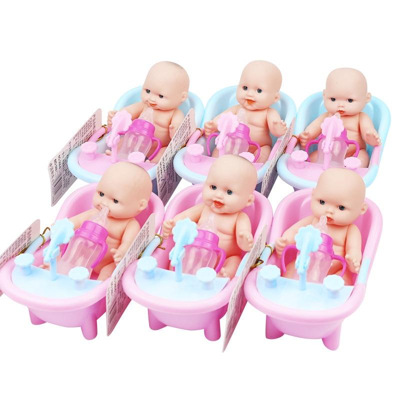 Single Sale Cute Simulation Baby Child Bath Mini Doll Doll Classic Baby Water Toy Baby Swimming Children Beach Bath Toys