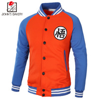 John SBakery Brand 2017 Hoodies Men Dragon Ball Coat Casual Male Jacket Moleton Masculino Slim Cotton