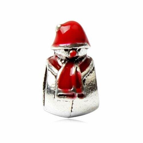 Макси маленькое Рождественское дерево костыль колокольчик Санта Клаус подвески-шармы Pandora Браслеты и браслеты для женщин DIY для украшения подарка - Цвет: Style 23