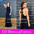 Emma Watson Dark Navy Dress at Noah Premier Halter Tulle Dark Navy Long Prom Dress Open Back Formal Evening Gown