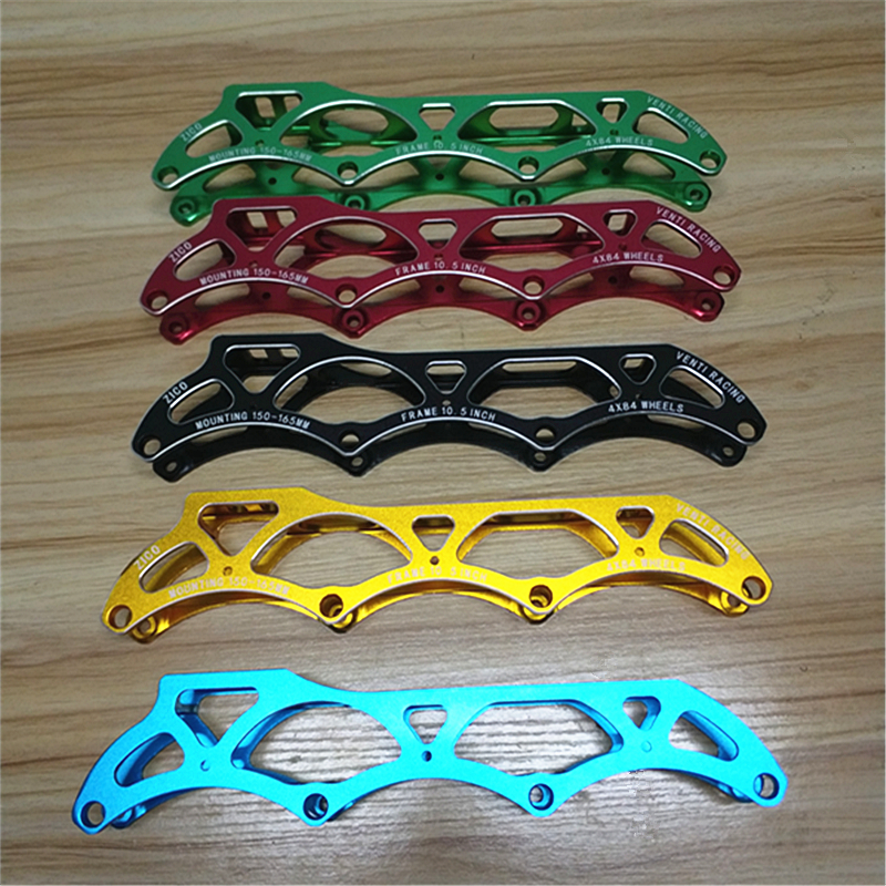10 5 inches 4X84mm 7075 CNC Alloy Venti Racing Inline Speed Skates Frame for 84mm Wheels