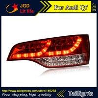 Стайлинга автомобилей задние фонари для Audi Q7 светодиодные задние фонари задний багажник крышка лампы DRL + сигнала + Тормозная + обратный