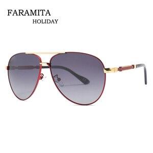 Мужские солнцезащитные очки Faramita, винтажные очки с металлической поляризацией, зеркальные очки для вождения, лето 2019