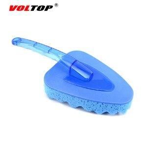Image 4 - VOLTOP herramienta de limpieza lavado de escobillas coche accesorios onda Triangular de esponja cepillo casa Oficina Auto de absorción de agua