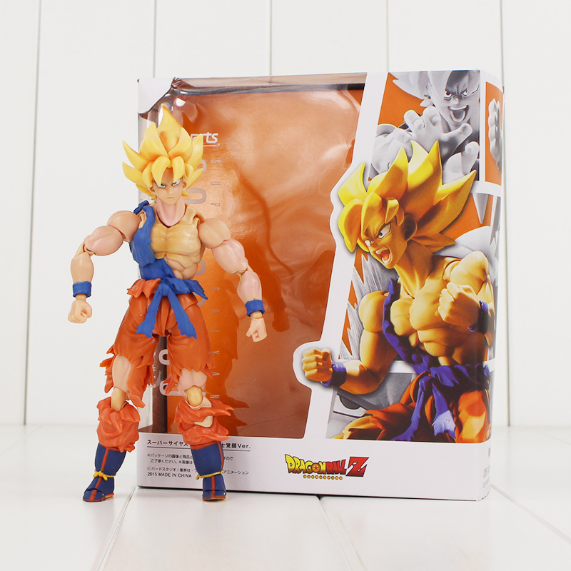 15cm Japanese Anime Dragon ball Z Super Saiyan Son Goku Blue Hair PVC Action Model figure Kids Toys anime dragon ball z super saiyan son goku 22cm pvc action figure anime model toys