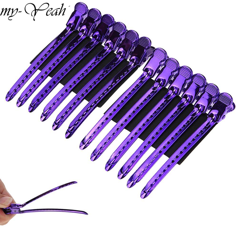 12Pcs/Set Metal Alligator Hair Clip Hairdressing Clamp Hairpins DIY Barber Pro Salon Hair Styling Tools