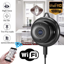 Nueva 1pc 2.8mm Wireless Mini WIFI Cámara IP Visión Nocturna Smart Home Security Videocámaras EE. UU. / UE Enchufe Mayitr