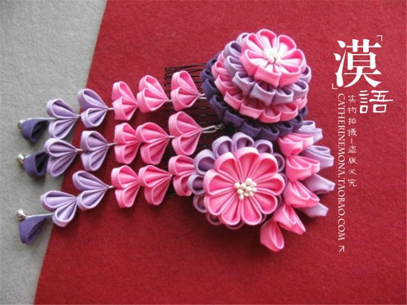 где купить Flower Sakuran Bathrobe Kimono Cosplay Custom Cloth Flower Hairpin / Headdress O по лучшей цене