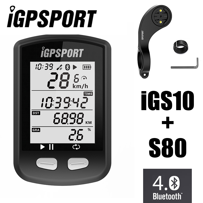 IGPSPORT iGS10 GPS ANT+Bluetooth 4.0 MTB Road Bicycle Cycling Computer Wireless Speedometer Vdo Mileometer with S80 Out Mount бинокль qanliiy fujinon 7x50 b if mil spec