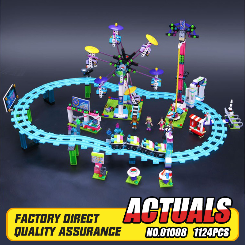 ФОТО New LEPIN 01008 Friends Amusement Park Roller Coaster Building Block Kits Blocks Bricks Girl Toys 41130