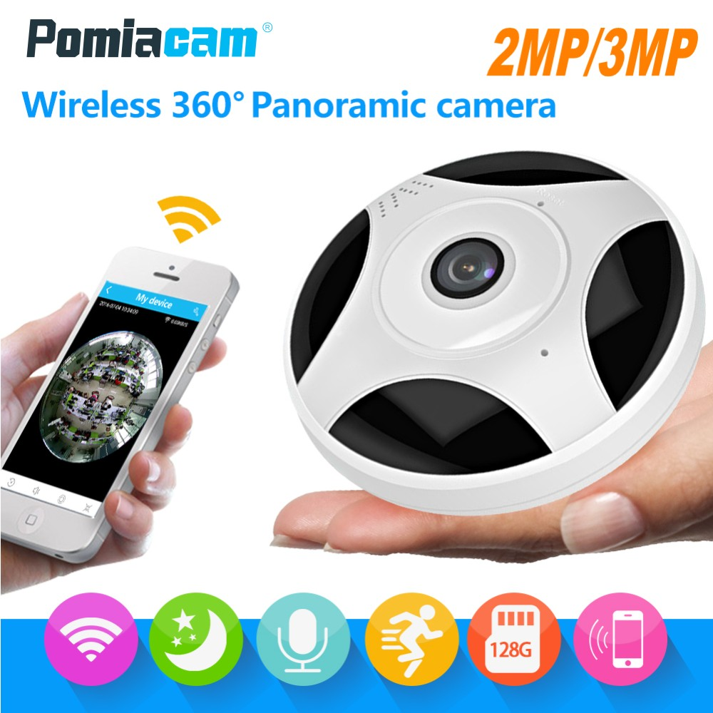 HD 3MP/1080P Panorama VR IP Camera 360 Degree Fisheye Wide Angle Wifi CCTV Camera Night Vision Wireless Home Security IP Camera