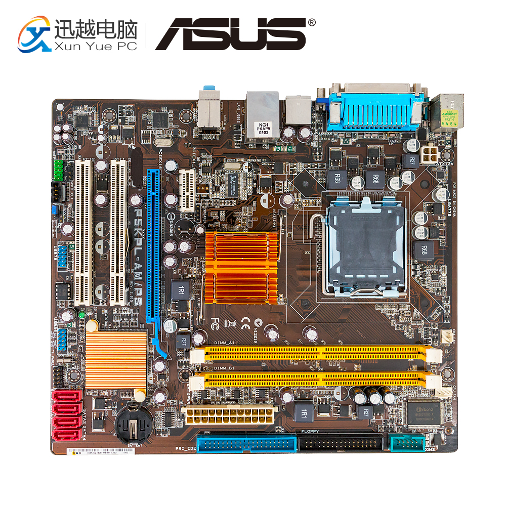 Asus P5KPL-AM/PS Desktop Motherboard G31 P5KPL-AM/PS LGA 775 4G DDR2 USB2.0 M ATX free shipping original motherboard for asus p5kpl am lga 775 ddr2 usb2 0 boards 4gb g31 desktop motherboard