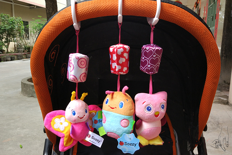 Promotion! Baby Animal Rattles Toy Animal Hanging Bed Crib Stroller Toy Mobile Gifts Ring Bell Soft