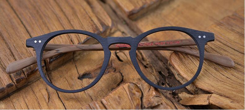 Image 3 - 60's Vintage Wood Brown Oval Eyeglass Frames Full Rim Hand Made Glasses Spectacles Men Women Myopia Rx able Brand New-in Men's Eyewear Frames from Apparel Accessories