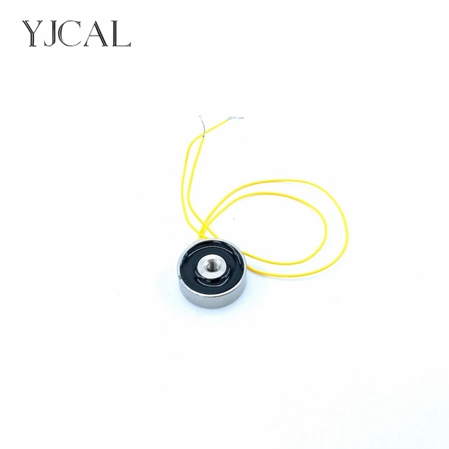Mini Suction-cup Dc 12V 24V Cylindrical Holding Electric Sucker Electromagnet Magnet YJ-15/5 Lifting 1KG Gallium Metal China