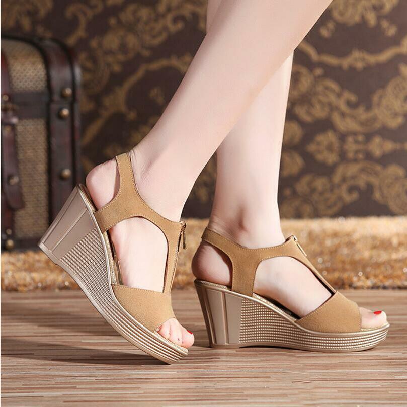 Wedge Hauts 2018 1 forme Chaussures 3 Sandales 2 4 Sandale Dames Plataforma D'été Femmes Talons Sandalia Plate wYHvw