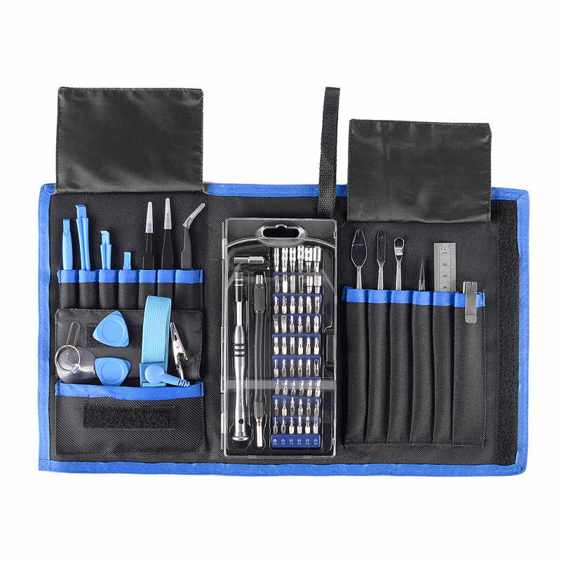 75 in 1 Precise Screwdriver Set For Cell Phone Torx Slotted Hex Bit Disassemble Repair Tool Kit A Set Of Keys Universal Tools