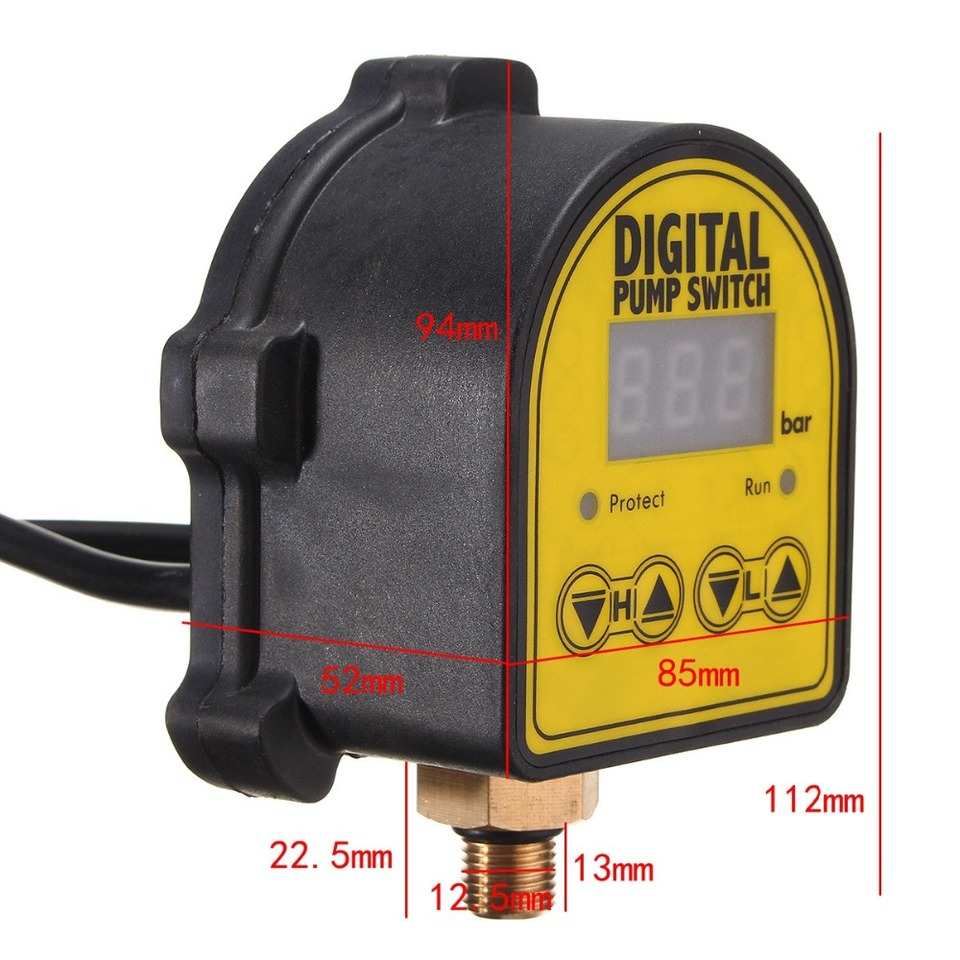 Auto Digital Pressure Controller ON OFF Switch 220V For Water Air Gas Pump  \//