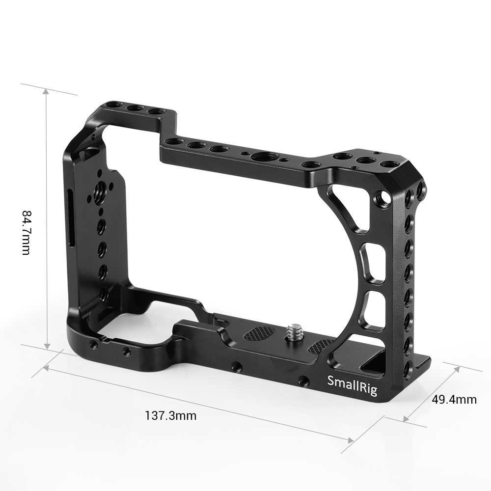 Cage de caméra SmallRig A6400 pour appareil photo Sony Alpha A6400 avec 1/4 3/8 trous de filetage pour Vlog bricolage Option 2310 - 3