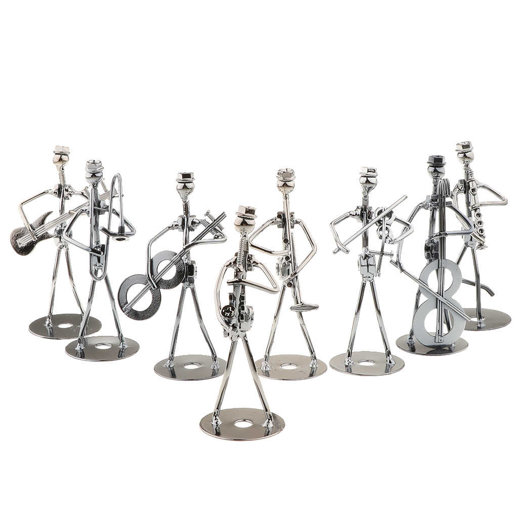 Iron Bolts Art Nut Music Band Figurines