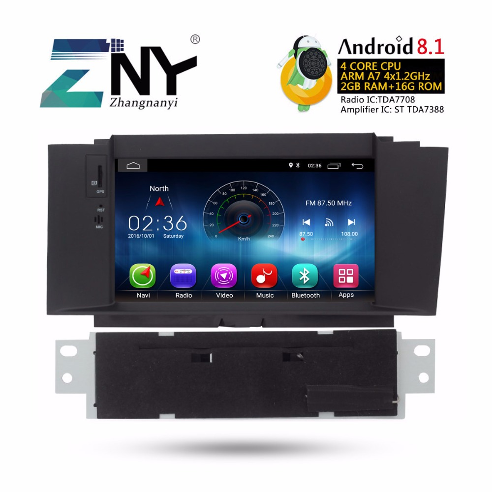 "7"" Android 8.1 Car DVD Auto Radio For Citroen C4 C4L 2011-2016 GPS Navigation Multimedia Audio Video Stereo Gift Camera"