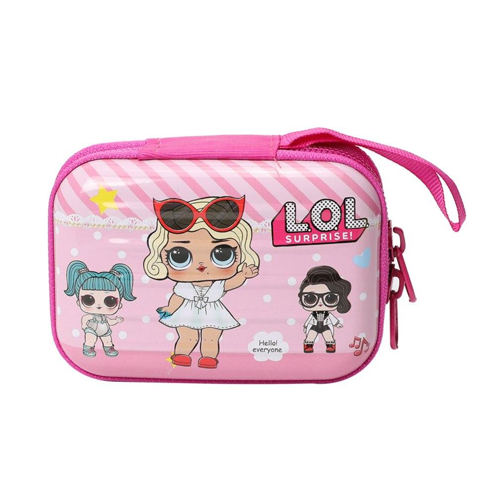 Topsthink Girls Surprise Metal Clip Box Cute Girl Portable Double Zippers Storage Case Custom Logo