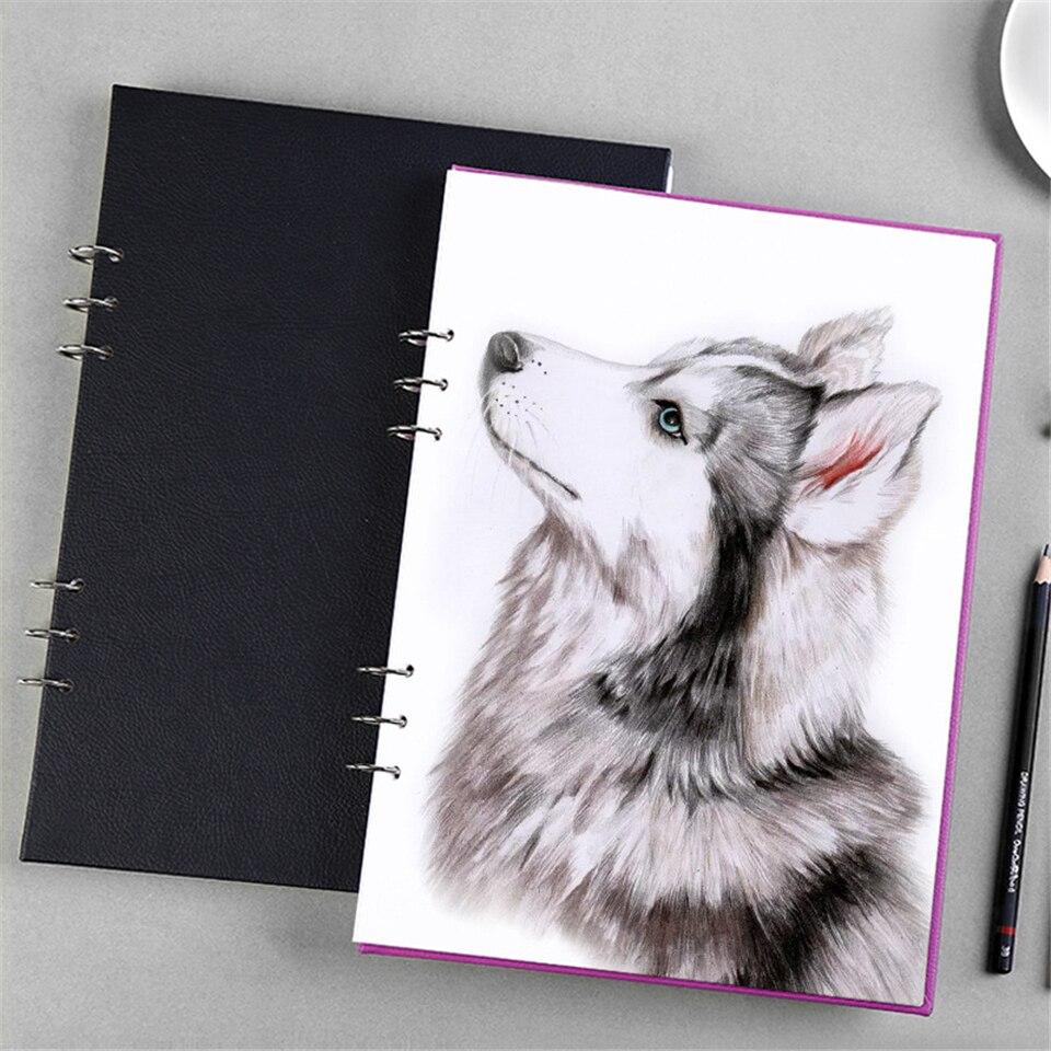 A4 Schetsboek Dagboek Spiraal Tekening Papier Marker Pad Graffiti - Notitieblokken en schrijfblokken bedrukken - Foto 2