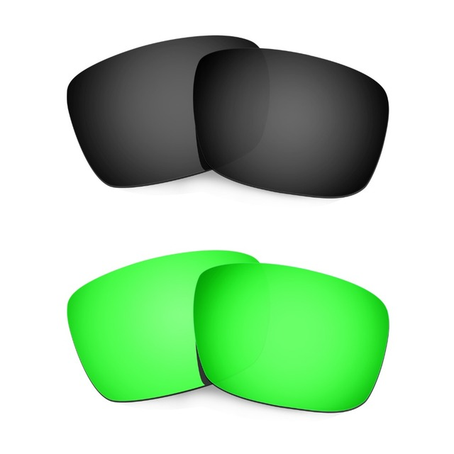 71f3eb7fb9 HKUCO For Fuel Cell Sunglasses Polarized Replacement Lenses Black Emerald  Green 2 Pairs