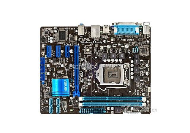 Бесплатная доставка 100% оригинал настольных материнских плат ASUS P8H61-M LX плюс DDR3 LGA1155 оперативной памяти 16 г рабочего материнская плата