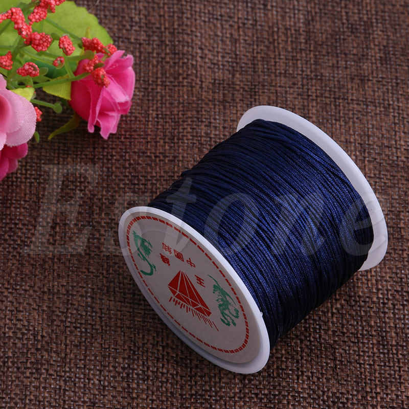 0.8mm Fine Nylon Cord Thread Line Chinese Knot Macrame Braided String Crafts 45M
