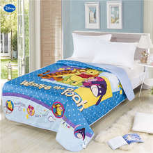 Disney Winnie the Pooh Quilt Summer Comforte Bedding Cotton Fabric Children's Boy Kids Bed Cover Coverlet Cartoon Blue Polka Dot