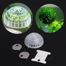 Aquarium Float Moss Ball Filter Decor Shrimp Green Live Plant Holders purify water Fish Tank Cleaning Christmas
