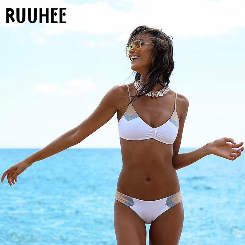 RUUHEE Swimsuit Women Bikini-Set Push-Up Biquini Beach-Wear Female