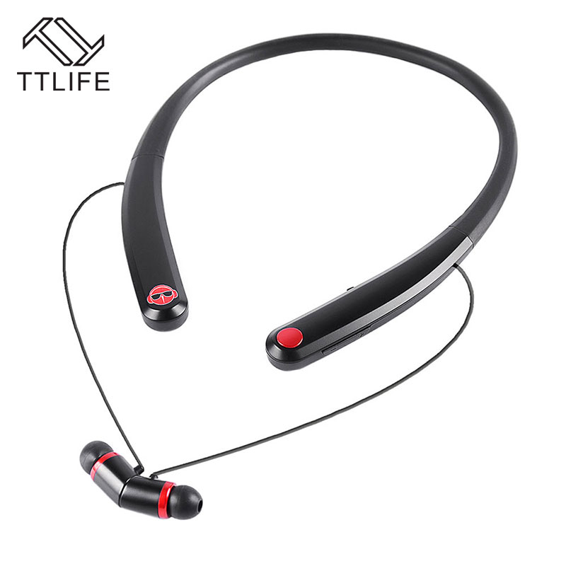 TTLIFE Bluetooth Headset Wireless Stereo Noise Cancelling Earphone CSR4.1 Sport Magnet Flexible Material Headphone with Mic ttlife q26 stereo noise cancelling earphone ultra mini car calls bluetooth wireless headset with mic for iphone 7 android psp