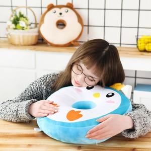 Image 5 - 40 センチメートルかわいいぬいぐるみ脂肪動物園動物ドーナツぬいぐるみ枕のおもちゃぬいぐるみかわいい動物漫画枕クッションための素敵なギフト子供