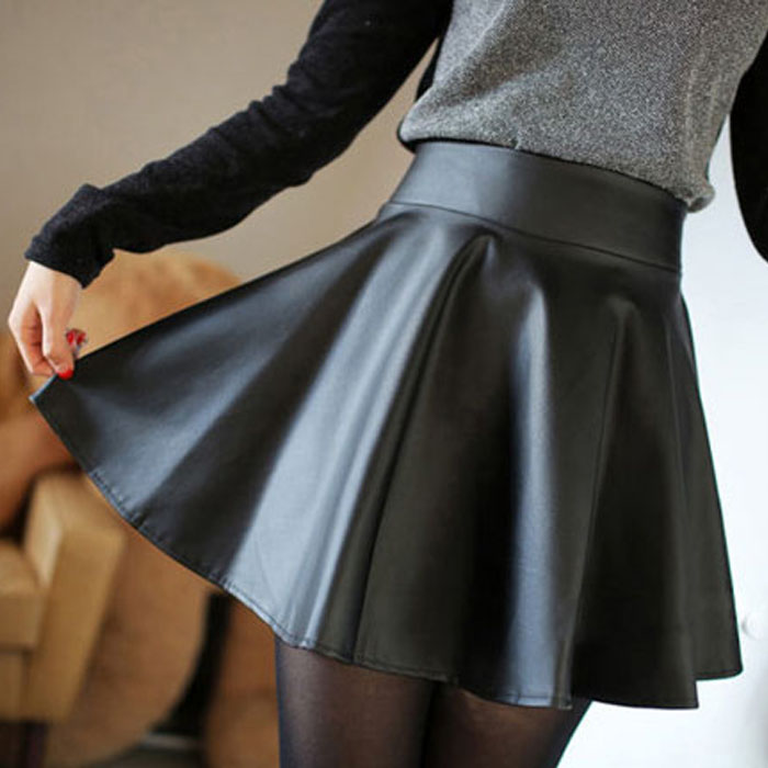 Online Get Cheap Leather Skater Skirt -Aliexpress.com | Alibaba Group