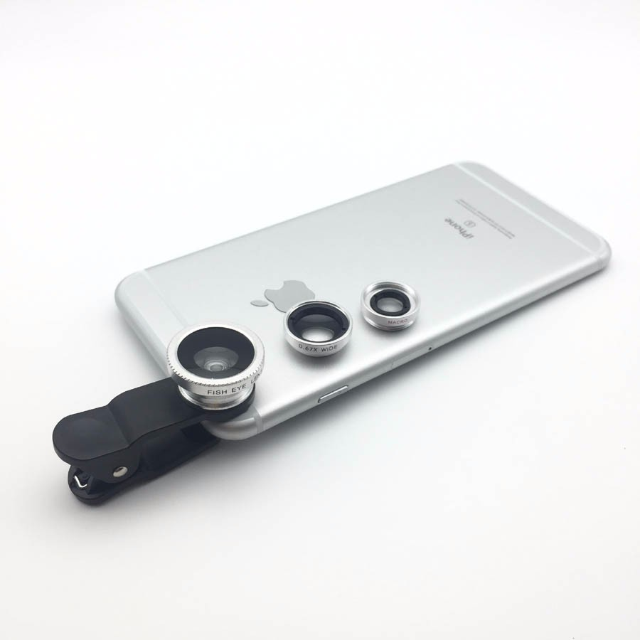 Newest Mobile Phone Camera Lens Kits Fisheye lense Wide Angle Macro Lens 12X Zoom Camera Telephoto Lens For iPhone Samsung LG 16