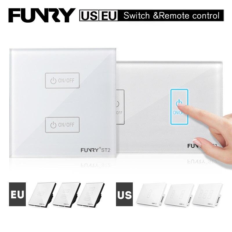 Smart touch Wandschalter US/EU Standard 1 2 3 Gang Fernbedienung ...