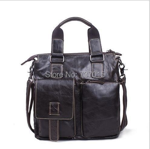 ФОТО FASHION TENDER 100% Genuine Leather men Shoulder Bags Brand men's briefcase business men's travel bags Men messenger bags LI-90