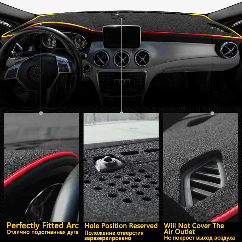 日産テラ 2018 2019 2020 アンチスリップマットダークマットシェーディングパッド防止サンシェード Dashmat 保護抗 Uv カーペットダッシュ車アクセサリー