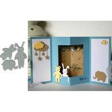 The Comforters Bear Rabbit Elephant Cloud bebe damour Metal Cutting Dies Stencils for DIY Scrapbooking  Card Embossing New 2019