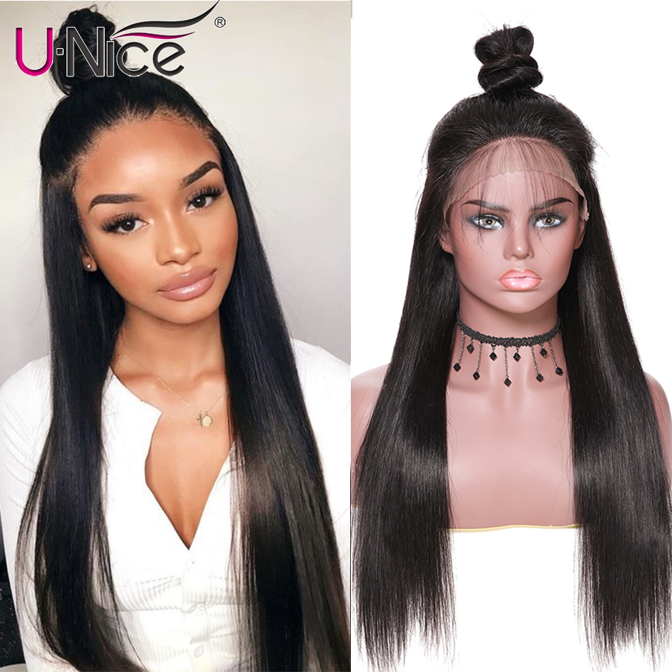Unice Hair Brazilian 360 Lace Frontal Wig Straight Wigs 360 Lace Frontal Human Hair Wigs Lace Front Human Hair Wigs(China)